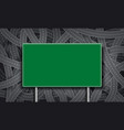 green road sign blank template for text vector image