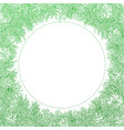 green round frame on white background vector image vector image