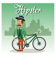 Hipster man cartoon design vector image vector image