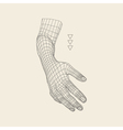 Human Arm Human Hand Model Hand Scanning vector image