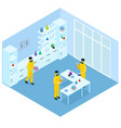 isometric science research concept vector image vector image