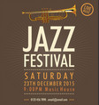 jazz festival poster 2 vector image vector image