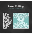Laser Cut Card Template For Cutting Cutout vector image vector image
