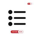 list icon vector image vector image