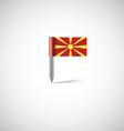 Macedonia flag pin vector image vector image