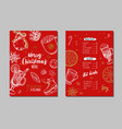 merry christmas festive winter menu design vector image vector image
