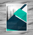 modern geometric abstract brochure flyer design vector image