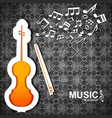 music abstract vector image vector image
