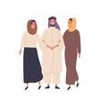muslim family flat people in vector image