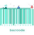 nautical barcode image vector image vector image