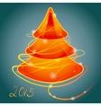 orange luminous christmas tree vector image vector image
