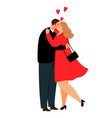 overweight love couple plus size casual vector image vector image