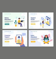 people online banner set landing page templates vector image vector image