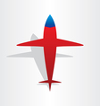 plane airplane flying symbol vector image vector image