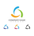 recycle logo template vector image vector image