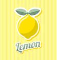 retro lemon vector image vector image