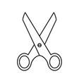 scissors of icon school work cut dividing vector image