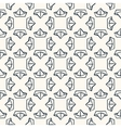 Seamless nautical pattern with paper boats vector image vector image