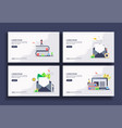 set modern flat design templates for business vector image vector image