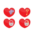 Set of glass hearts vector image vector image