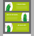 set of horizontal narrow banners with vegetable vector image vector image