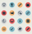 set of simple icons icons vector image vector image