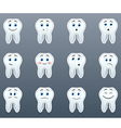 Set of stickers teeth vector image vector image