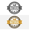 Set of vintage logo label badge logotype vector image