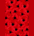 simple red flower poppy seamless pattern vector image vector image