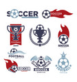 soccer game isolated icons football sport vector image