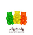 sweet marmalade teddy bears vector image vector image