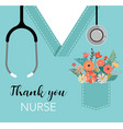 thank you doctor and nurse - covid-19 pandemic vector image vector image