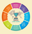 trophy infographic template design template vector image