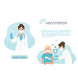 vaccination concept banner with a doctor vector image