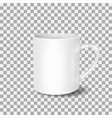 white cup on transparent background drink cup vector image vector image