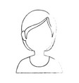 woman faceless head vector image vector image