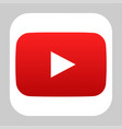 youtube logo icon vector image vector image
