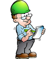 Hand-drawn of an Construction Manager vector image