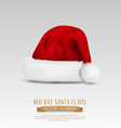 cap of Santa Claus isolated on a gray background vector image
