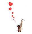 A Musical Bass Saxophone Playing Love Song vector image