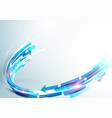 abstract blue and white rectangles line motion vector image vector image