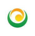 abstract circle swirl logo image vector image vector image