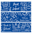 back to school education and student study items vector image vector image
