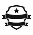 badge hipster icon simple black style vector image