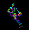 basketball player with ball abstract vector image vector image