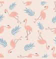beach tropical seamless pattern with flamingos vector image vector image
