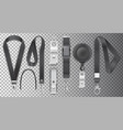 black lanyards with metal claw clasp vector image