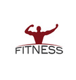 Bodybuilder Fitness Model silhouette design vector image vector image