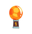 bright winner award for best football player vector image vector image