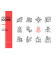 business and finance - line design style icons set vector image vector image